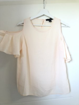 Off the shoulder top room-licht beige