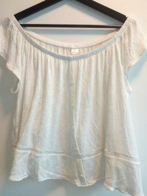 H&M Carmen shirt wolwit