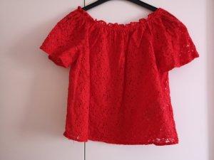 Only Carmen shirt rood