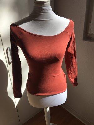 Off Shoulder Shirt in schönem Apricot - nur einmal getragen !