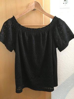 Off shoulder Shirt, schwarz, H&M