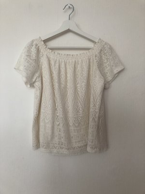 H&M Carmen Shirt cream