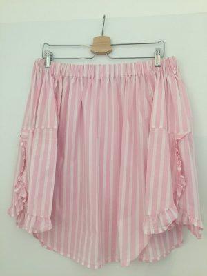 Mango Bandeau Top white-pink