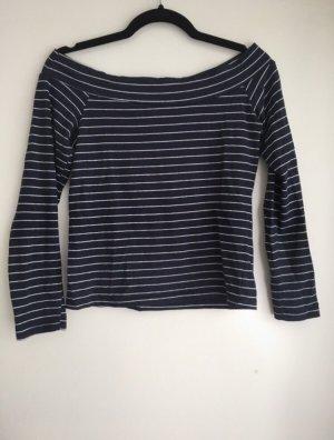 Carmen shirt donkerblauw-wit