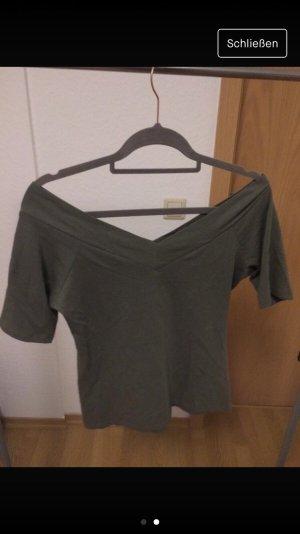 Atmosphere V-Neck Shirt olive green-khaki