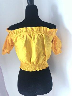 Off shoulder top in strahlendem gelb