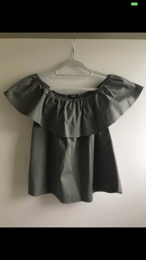 Off-Shoulder Top Khaki