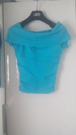 Kookai Off-The-Shoulder Top light blue-azure