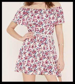 Off-the-Shoulder Dress Floral NEU