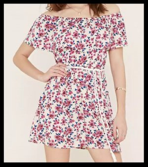 Off-the-Shoulder Dress Floral NEU