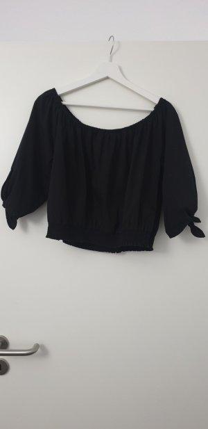 H&M Camicia cropped nero