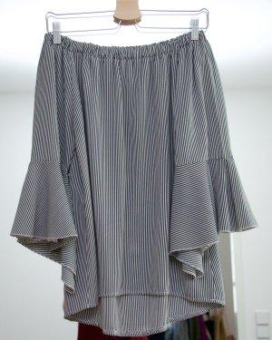 Carmen shirt zwart-wit Katoen
