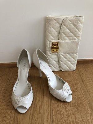 Aldo Peep Toe Pumps natural white-white