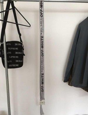Cinturón de cadera blanco-color plata