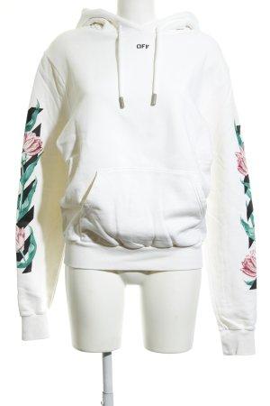 Off-White Kapuzenpullover wollweiß abstrakter Druck Casual-Look
