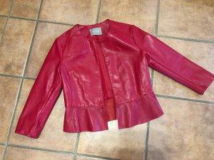 Orsay Blazer en cuir rouge