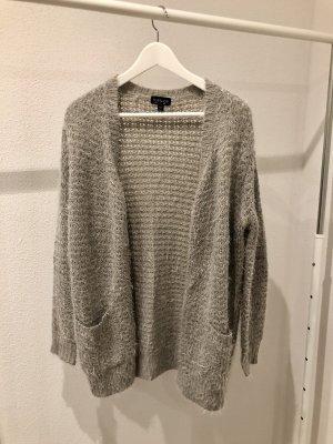 Topshop Giacca in maglia grigio-grigio chiaro