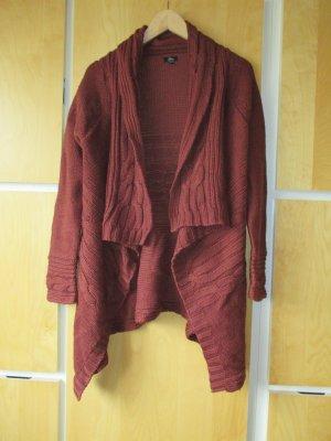 Ann Christine Veste en tricot rouge carmin