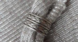 offener Bandring Ring aus 925 Silber gefolchten Gr. 57 wenig getragen