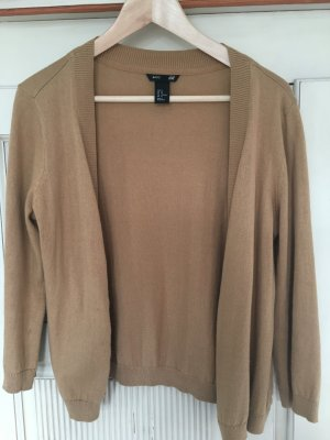 Offener Cardigan in Camel