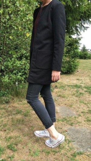 offener Mantel schwarz