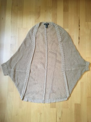 Offener Strickcardigan in beige