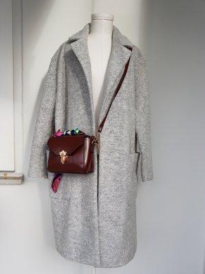 H&M Abrigo corto gris claro