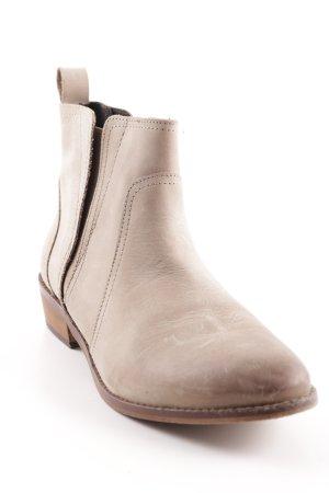 Office Ankle Boots beige schlichter Stil