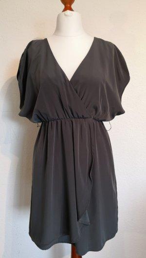 H&M Vestido tipo túnica gris antracita Poliéster