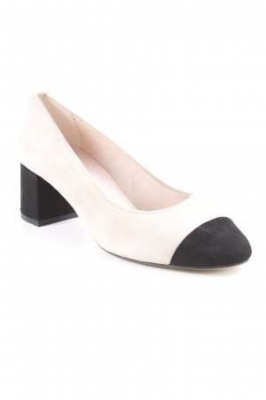 Office Mary Jane Pumps creme-schwarz Elegant