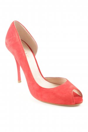 Office Peeptoe Pumps rot Elegant