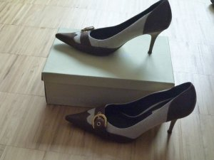 Office Pumps / Heels von Dune (UK), Gr.39/40, Leinen/Leder, NP 90€