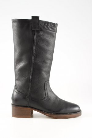Office Riding Boots black-bronze-colored casual look