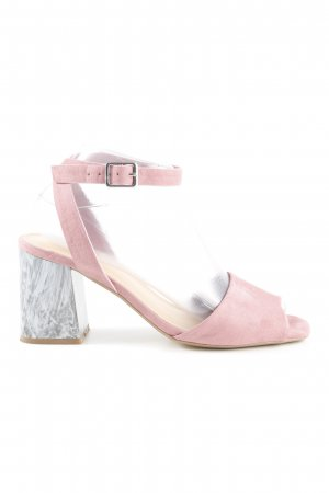 Office Riemchen-Sandaletten grau-rosa extravaganter Stil