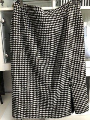 Gebreide rok zwart-wit