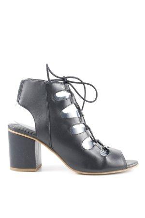 Office Roman Sandals black casual look