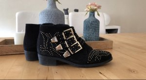 Office Ankle Boots gold-colored-black