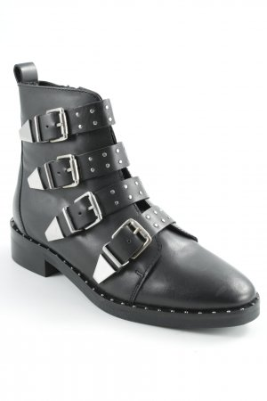 Office Western-Stiefeletten schwarz Rockabilly-Look