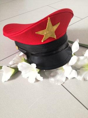 Offiziersmütze Schirmmütze Militär Offizier Mütze
