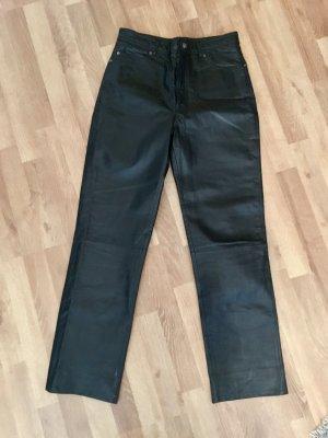 Offset Lederhose W30 L32 schwarz