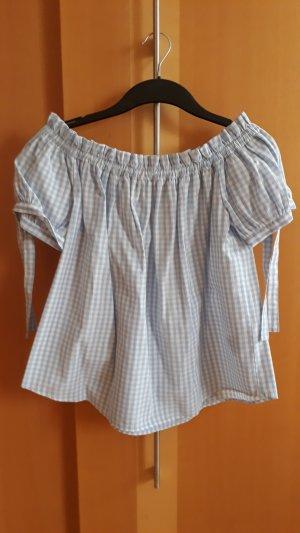 H&M L.O.G.G. Camicetta a blusa bianco-grigio chiaro