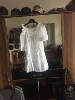 Offshoulder Bluse in weiß