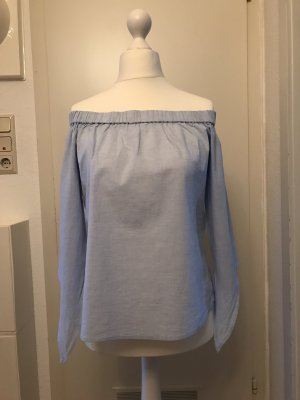 Mango Carmen Blouse azure cotton