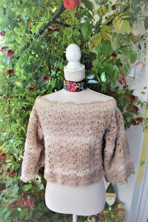 Offshoulder Crochet Bluse,Knit Bluse,Boho Hakel Top
