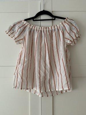 Vero Moda Carmen Shirt white-apricot
