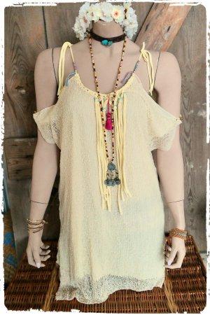 offshoulder Kleid Tunika boho hippie ibiza
