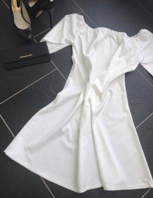 Sheinside Off-The-Shoulder Dress white