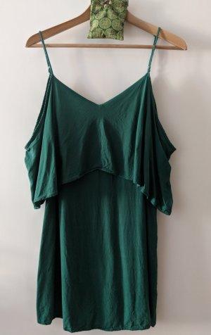 offshoulder Kleidchen in schönem Jadegrün