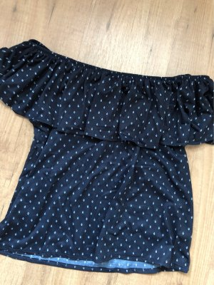 H&M Off the shoulder top donkerblauw