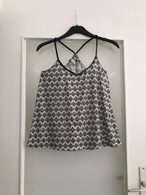 Pimkie Camisa tipo Carmen negro-blanco